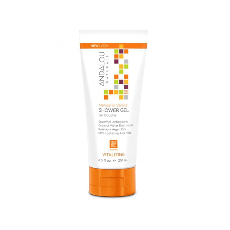 Andalou Naturals Shower Gel - Mandarin Vanilla, 8.5 oz - Konvalia Naturals | Natural Skin Care Products