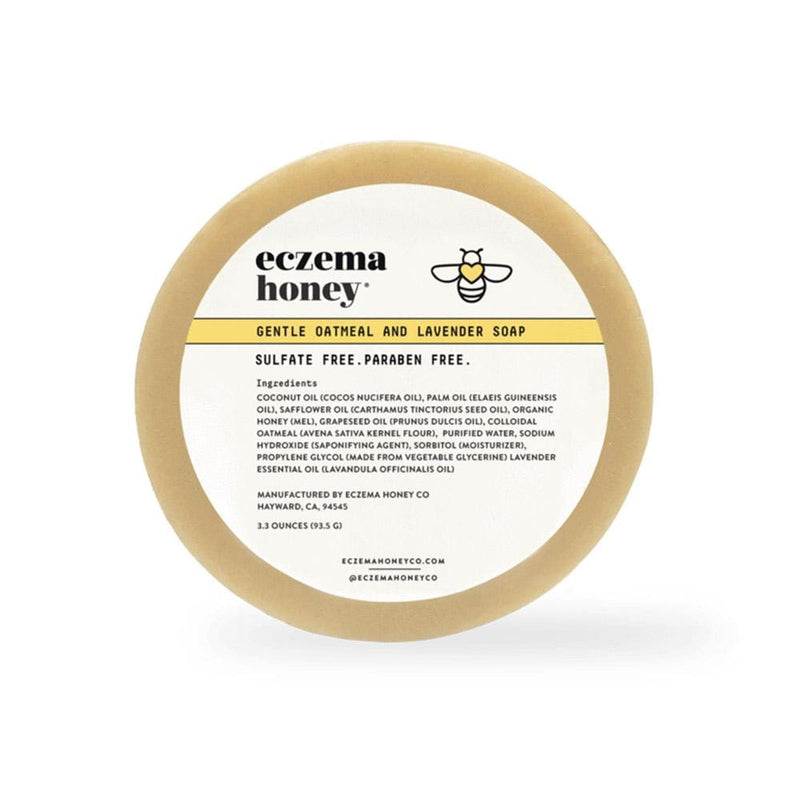 Eczema Honey Gentle Oatmeal and Lavender Soap - Konvalia Naturals | Natural Skin Care Products