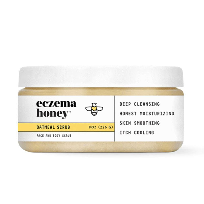 Eczema Honey Premium Oatmeal Scrub - Konvalia Naturals | Natural Skin Care Products