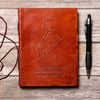 Leo Zodiac Handmade Leather Journal - drogos-cafe