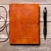 Gemini Zodiac Handmade Leather Journal - drogos-cafe
