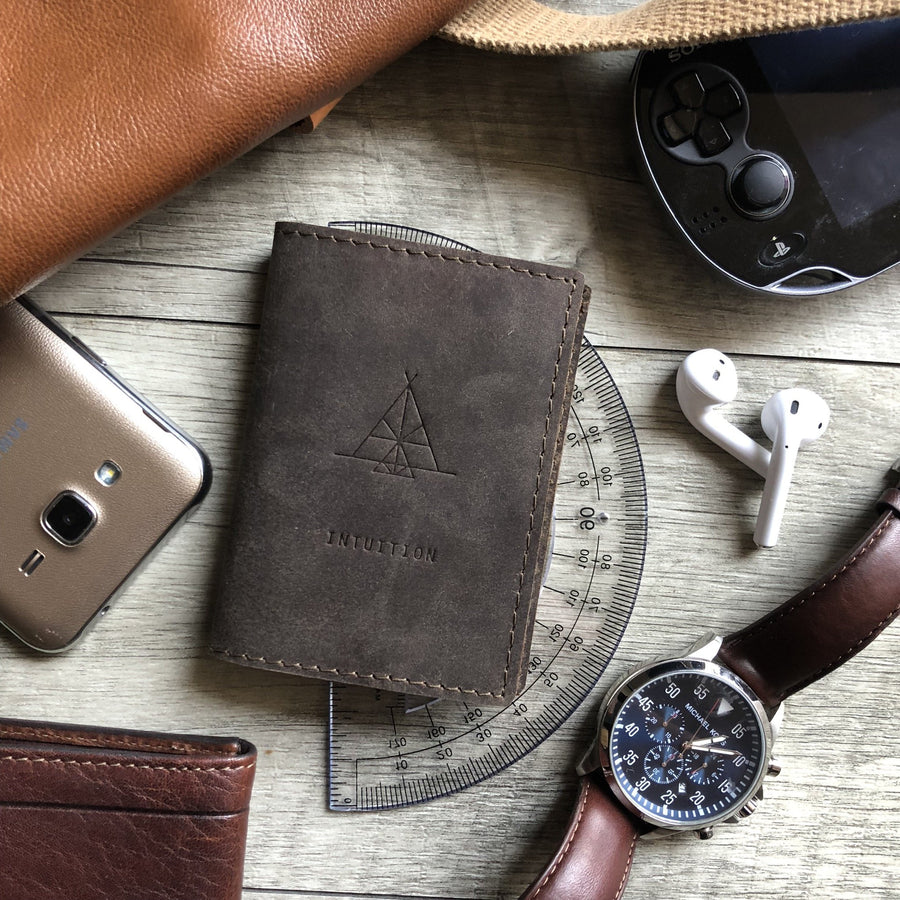 Intuition Pocket Leather Journal - drogos-cafe