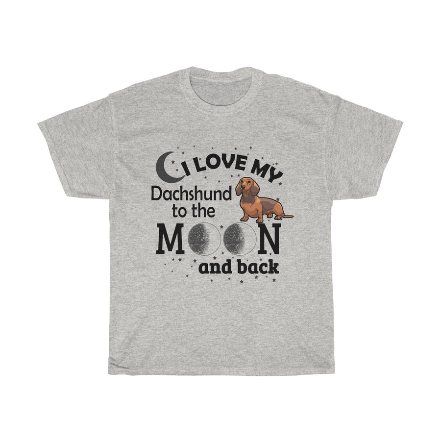Love My Dachshund Moon & Back T-Shirt