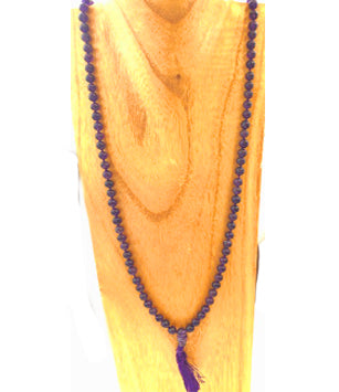 Deep Purple Amethyst Mala