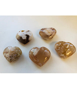 Flower Agate Hearts