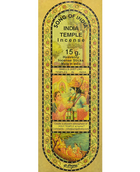India Temple Incense Song of India - 15gr
