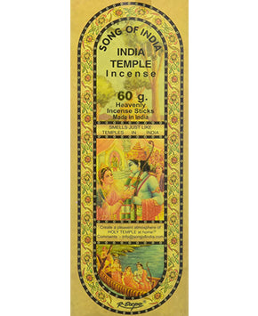 India Temple Incense Song of India - 60gr