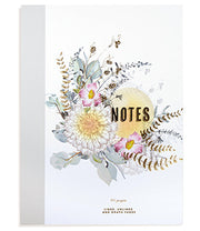 Papaya Clothbound Notebook - Sunrise Petals