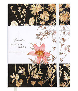 Papaya Fireweed Sketchbook - Black Shine