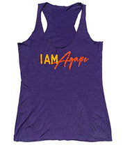 I AM Agape Tank Top T-Shirt - Purple