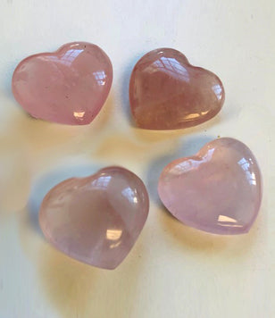 1 inch Rose Quartz Heart