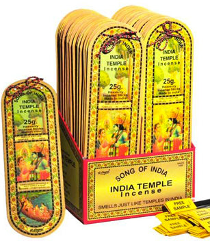 India Temple Incense Song of India - 25gr