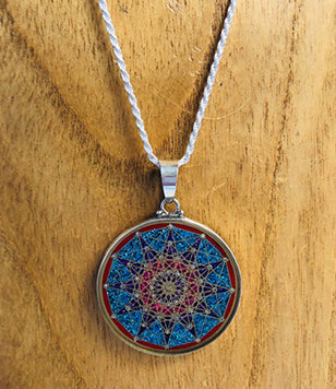 Twelve Point Star Sacred Geometry Pendant