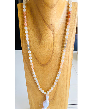 Multicolored Moonstone Gemstone Mala