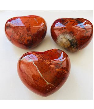 2 inch Red Jasper Gemstone Heart