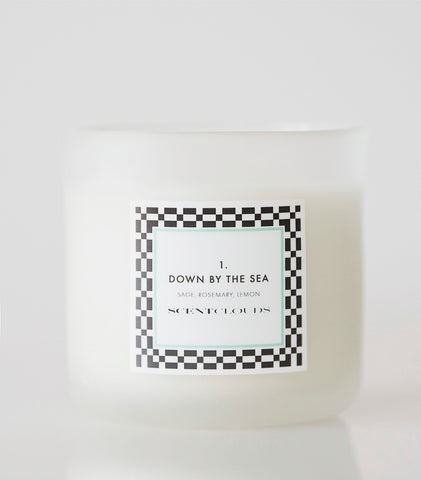NEW!  ESSENTIAL OIL CANDLE,  No.1 - DOWN BY THE SEA
