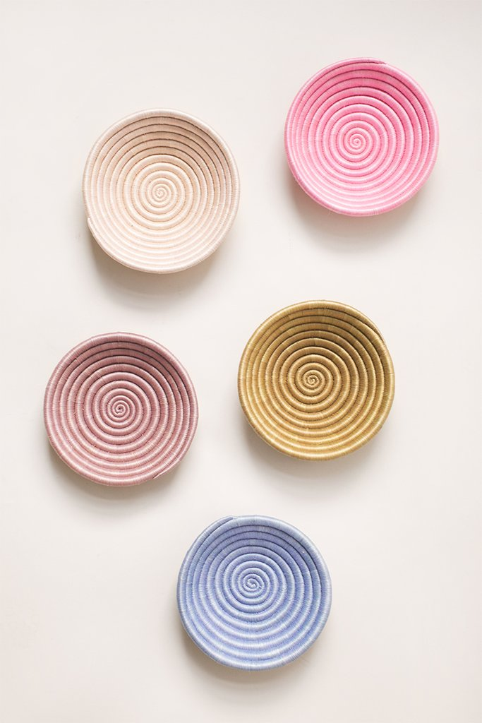Set of 5 Multi-Color Plateaus - ROSE MADE SHOP