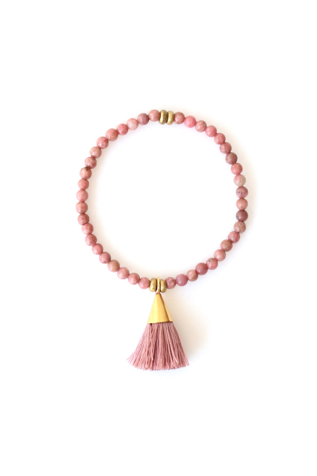 Blush x 2 Tassel Bracelet - ROSE MADE SHOP