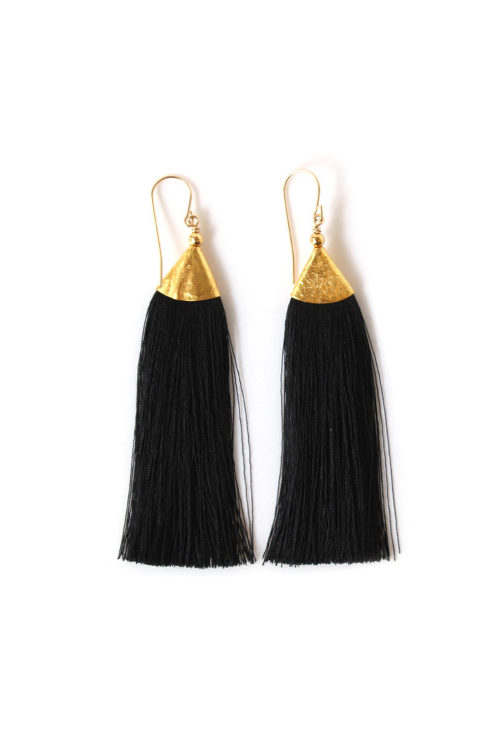 Black Mimi Tassel Earrings - ROSE MADE SHOP