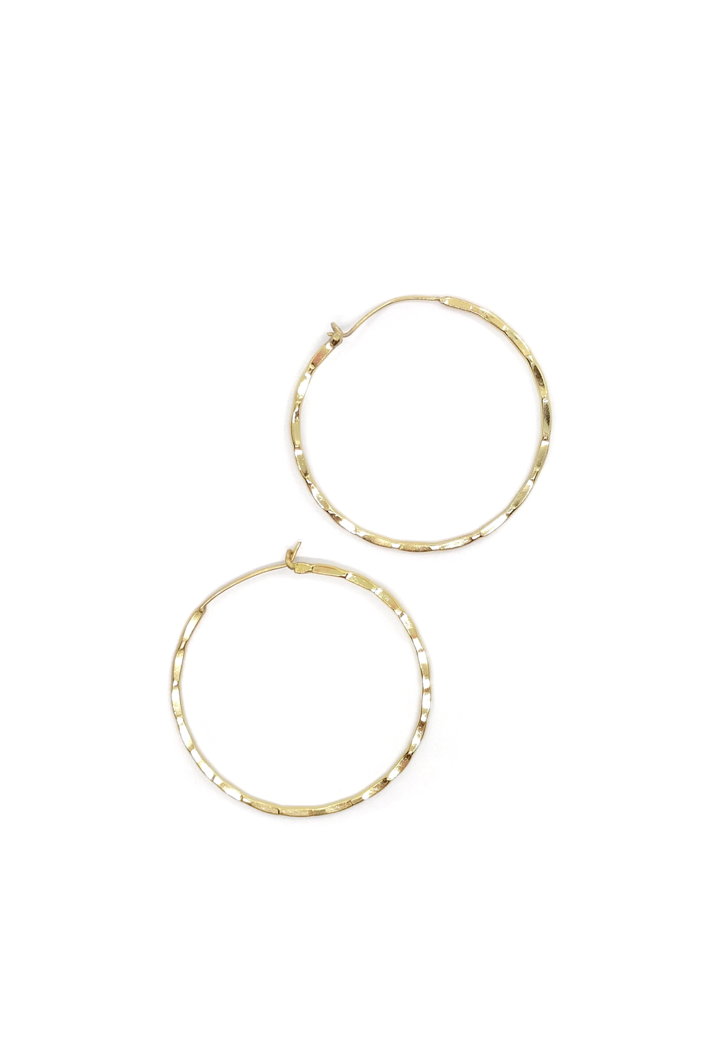 Bamboo Hoop Earrings - ROSE MADE SHOP