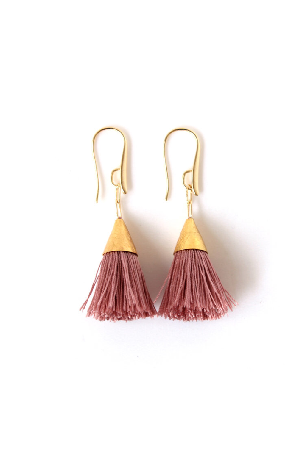 Blush Kate Tassel Earrings - ROSE MADE SHOP