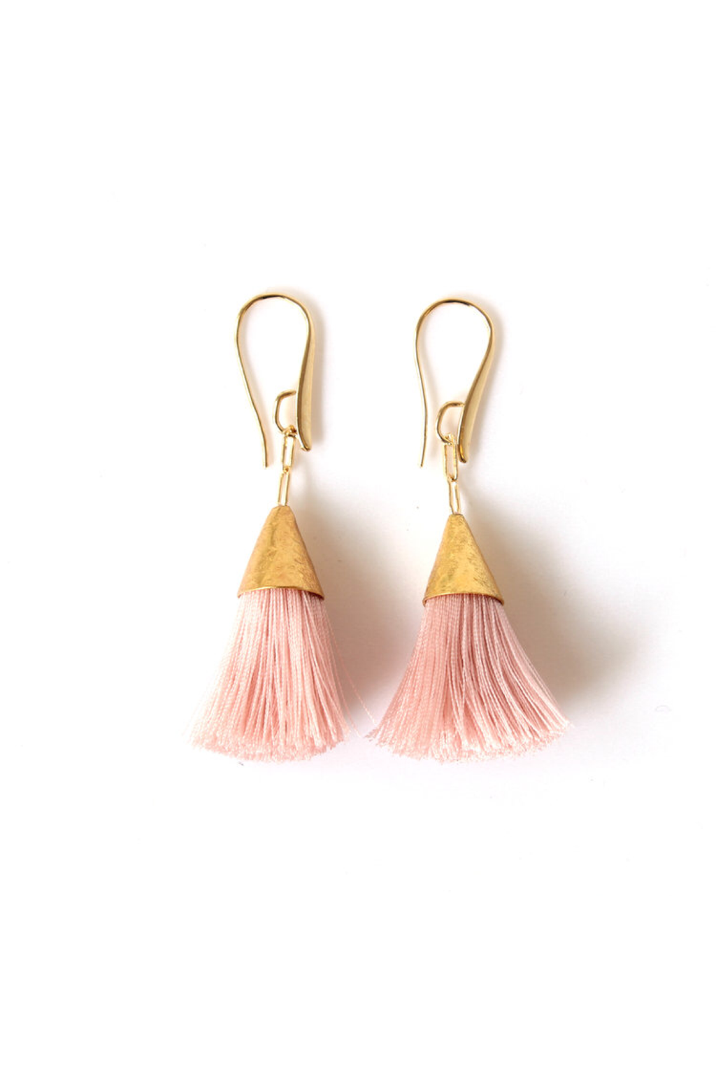 Ballerina Pink Kate Tassel Earrings - ROSE MADE SHOP