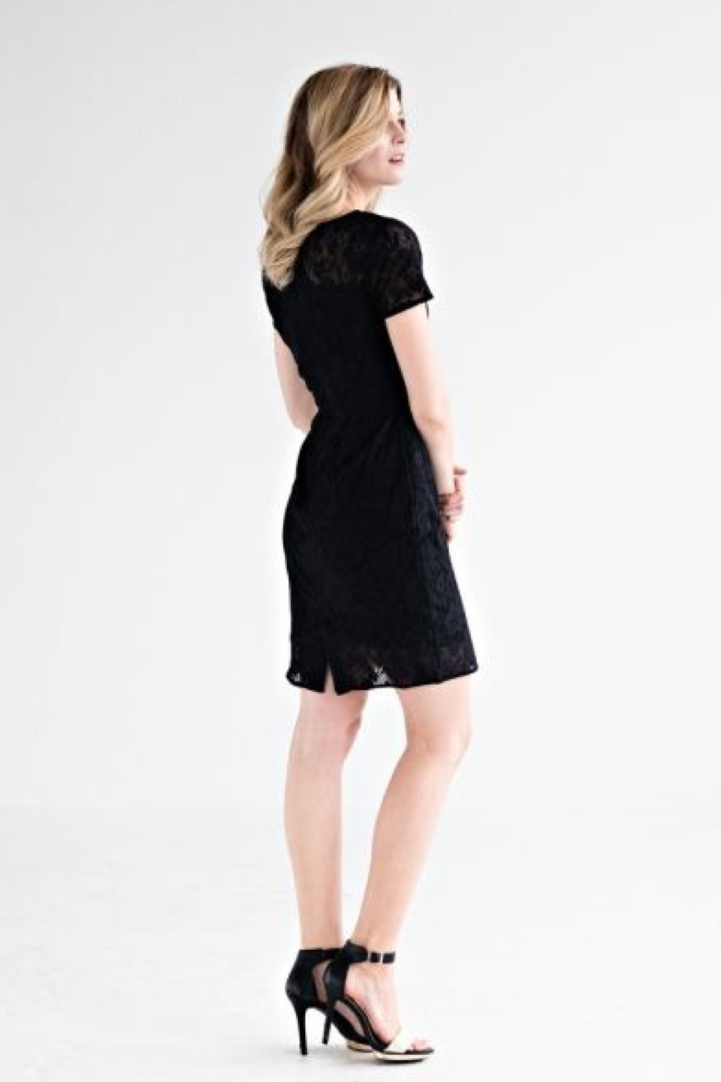 Black Lace Overlay Dress - ROSE MADE SHOP