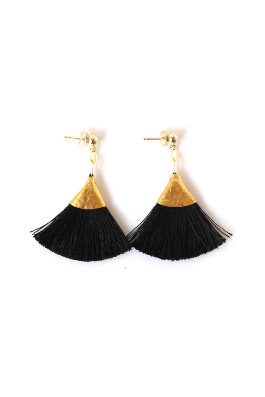 Black Josie Tassel Earrings - ROSE MADE SHOP