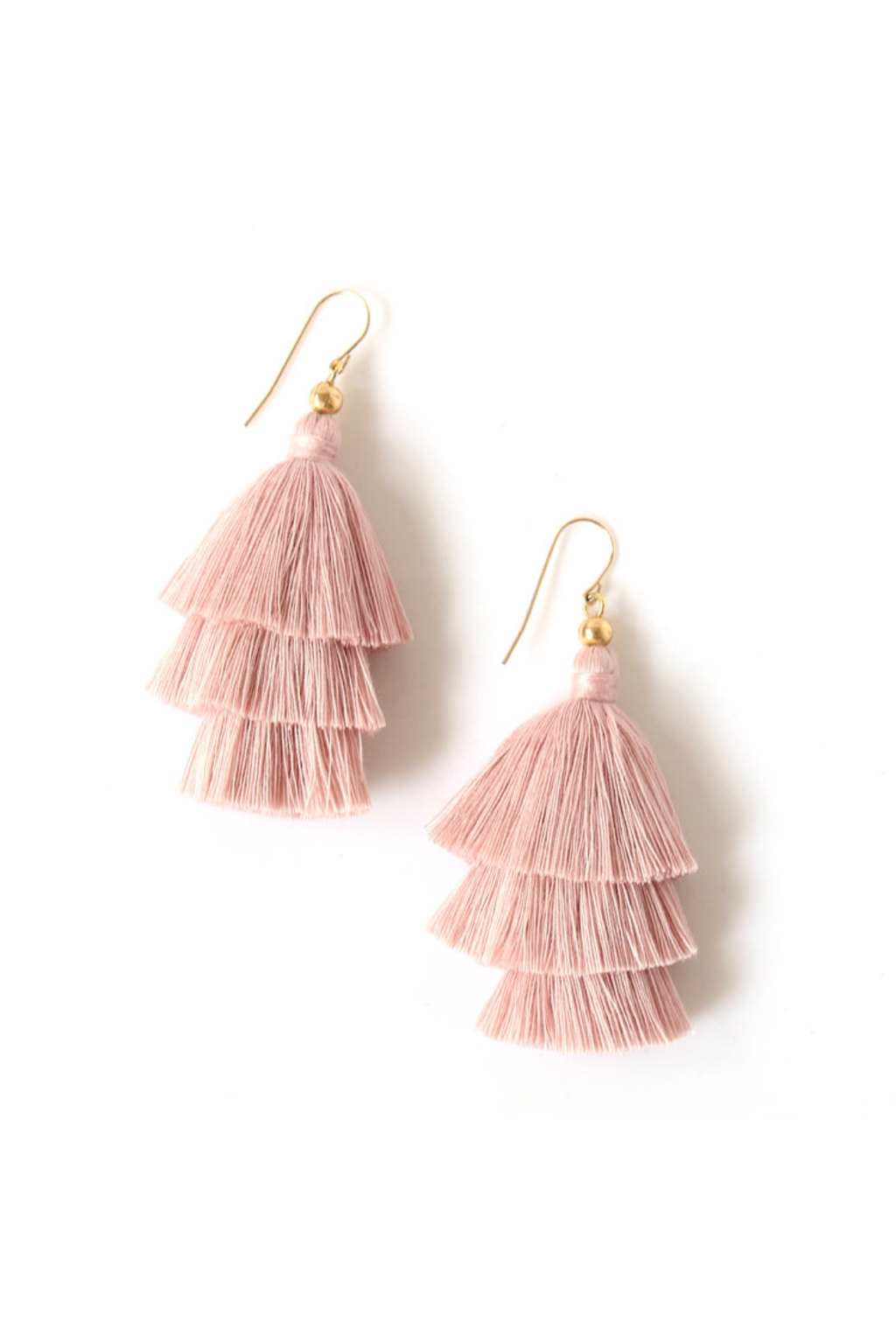 Ballerina Pink Mary Tassel Earrings - ROSE MADE SHOP