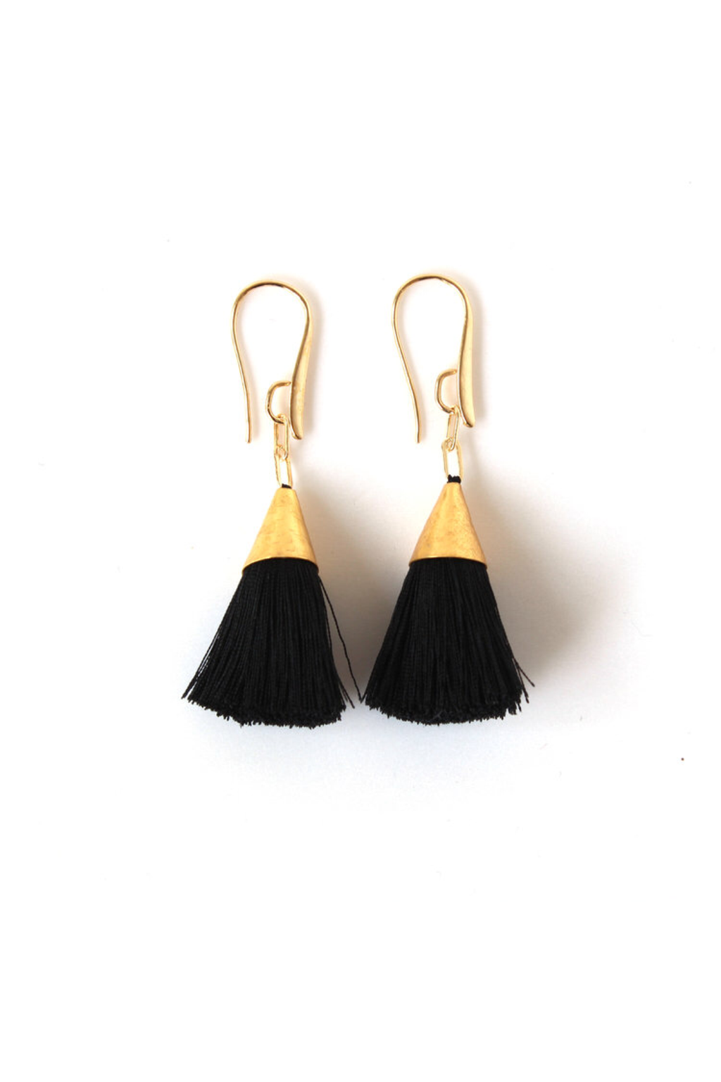 Black Kate Tassel Earrings - ROSE MADE SHOP