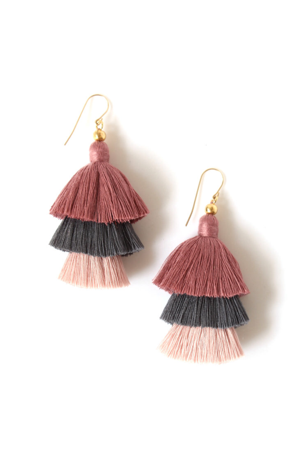 Blush Ombré Mary Tassel Earrings - ROSE MADE SHOP
