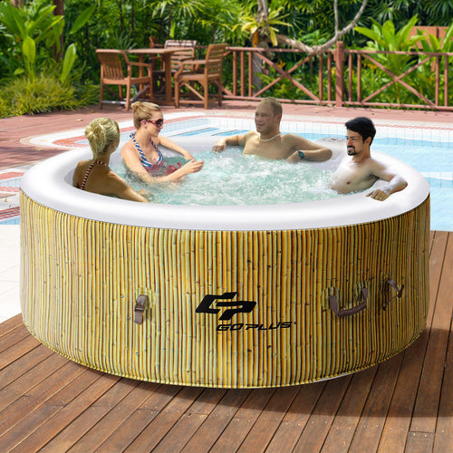 4 Person Inflatable Hot Tub Massage Spa
