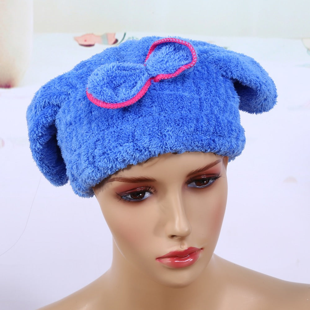 Quick Hair Drying Cap Hat Microfiber Bath Tool