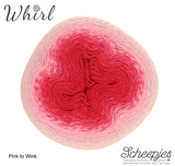 Scheepjes Whirl Ombre Pink to Wink cotton acrylic fingering yarn