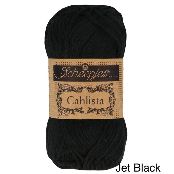 Scheepjes Cahlista Cotton yarn jet black