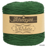 Scheepjes Whirlette cotton acrylic yarn avocado