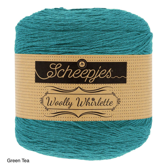 Scheepjes woolly whirlette green tea