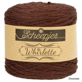 Scheepjes Whirlette cotton acrylic yarn chocolate