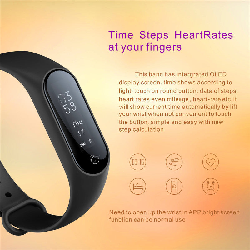 Bluetooth Smart Watch Blood Pressure Heart Rate Monitor