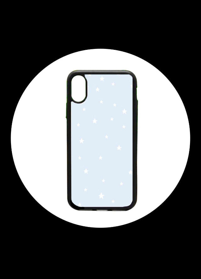 blue star pattern iphone case