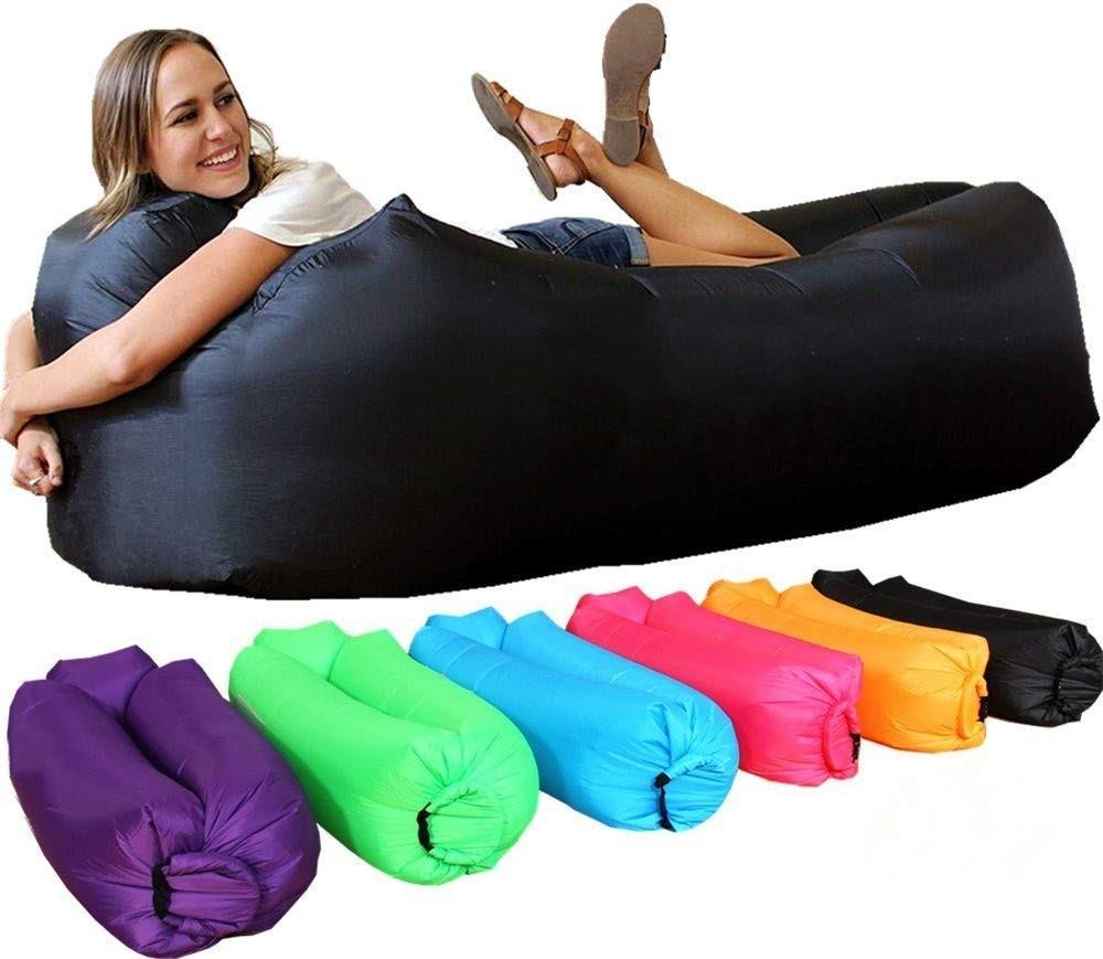 Sleeping Bags Sports & Entertainment Fast Inflatable Lazy Bag Air Sleeping Bag Outdoor Camping Portable Air Banana Beach Bed Rose Gold Glitter Inflatable Chair Sofa