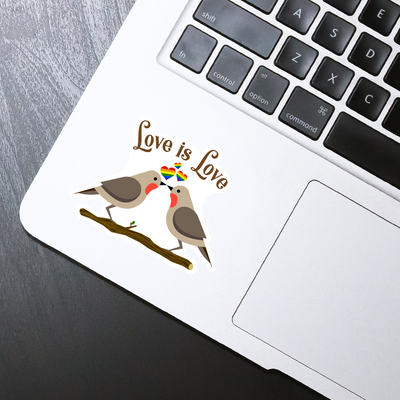 Love is Love Birds Sticker - HackStickers