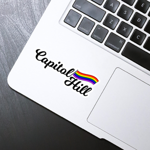 "Capitol Hill die cut sticker - 4"" x 2"""