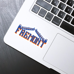 "Fremont die cut sticker - 4"" x 2"""