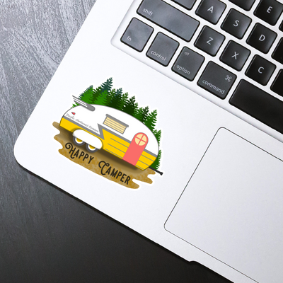 Happy Camper Sticker - HackStickers