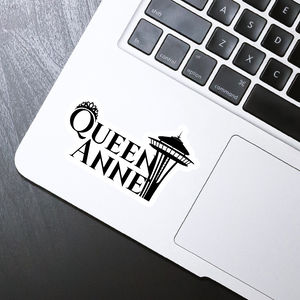 "Queen Anne die cut sticker - 4"" x 2"""