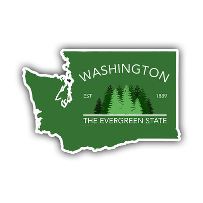 Washington - Evergreen State Sticker - HackStickers