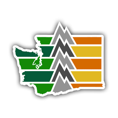 Washington State Geography Sticker - HackStickers