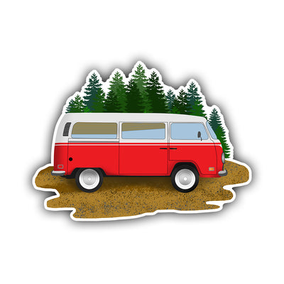 Camping Van Sticker - HackStickers