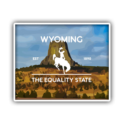 WY Equality State Sticker - HackStickers